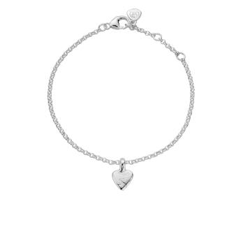 Silver Baby Heart Chain Bracelet