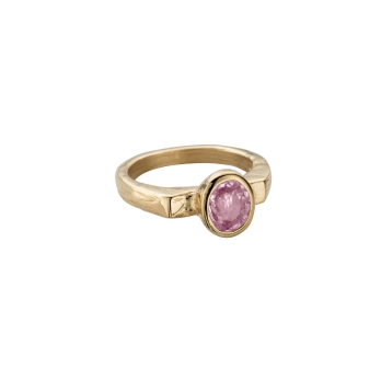 ANTHEIA Gold Pink Sapphire Ring