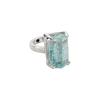 AURA Aquamarine Claw Ring