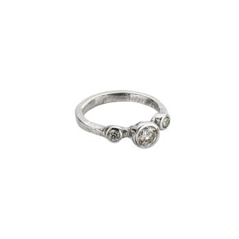 Cinderella Platinum Trio Diamond Ring