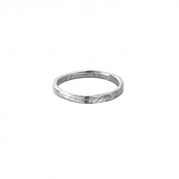 White Gold Ladies Mini Posey Ring