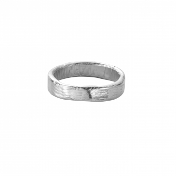 White Gold Mens Midi Posey Ring