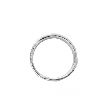 White Gold Mens Midi Posey Ring detailed