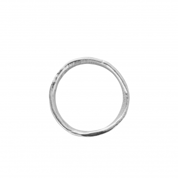 Mens White Gold Mini Posey Ring detailed