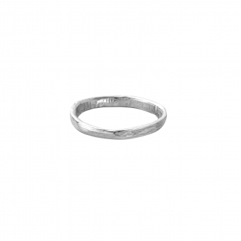 Mens White Gold Mini Posey Ring