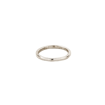 White Gold Simple Wedding Band