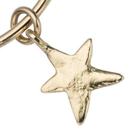 Gold Maxi Star Bangle detailed