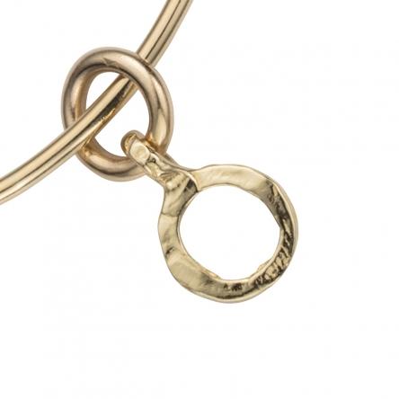 Gold Mini Open Circle Bangle detailed