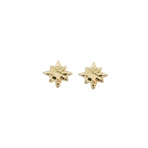 Gold Baby North Star Stud Earrings