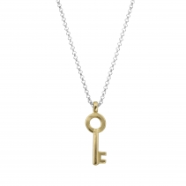 Silver & Gold Medium Dreamer's Key Necklace