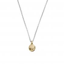 Silver & Gold Mini Disc Necklace