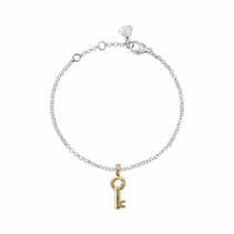 Silver & Gold Mini Dreamer's Key Chain Bracelet