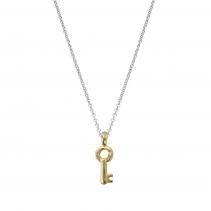 Silver & Gold Mini Dreamer's Key Necklace