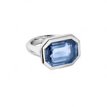 ISLE OF SKYE White Gold Blue Sapphire Ring