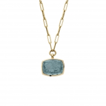 MARVALI Gold Aquamarine Necklace