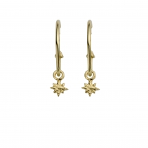 Gold Maxi Cupid Hoops With Baby North Star Charms