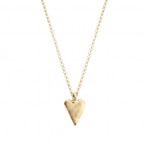Gold Medium Heart Necklace