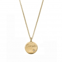 Personalised Gold Diamond Midnight Moon Necklace