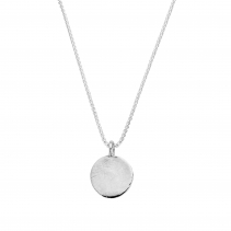 Silver Large Moon Snake Chain Necklace