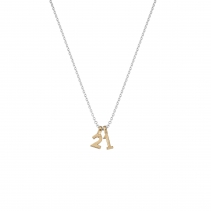 Silver & Gold Alphabet Charm Necklace