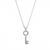 Silver Medium Dreamer's Key Necklace
