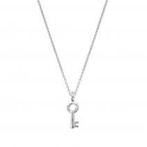 Silver Mini Dreamer's Key Necklace