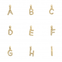 Gold Mini Alphabet Charm