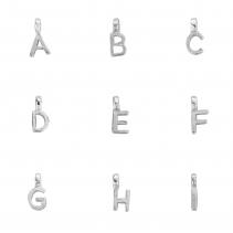 Silver Mini Alphabet Charm