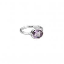 Silver Amethyst Baby Treasure Ring