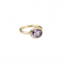 Gold Amethyst Baby Treasure Ring