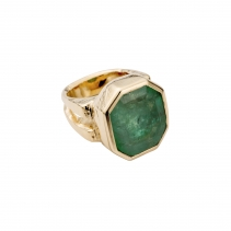 AUGUSTINE Emerald Gold Ring