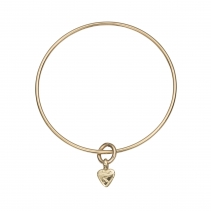 Gold Baby Heart Bangle