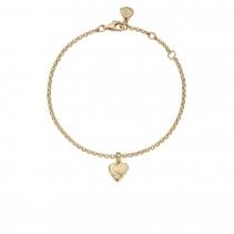 Gold Baby Heart Chain Bracelet