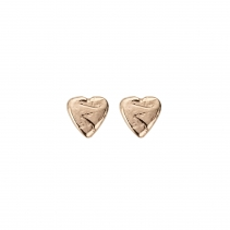 Rose Gold Baby Heart Stud Earrings
