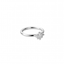 Silver Love Struck Baby North Star Ring