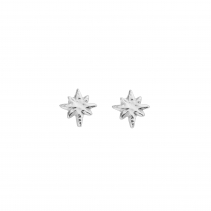 Silver Baby North Star Stud Earrings