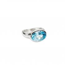 Silver Blue Topaz Treasure Ring