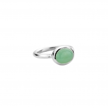 Silver Chrysoprase Baby Treasure Ring