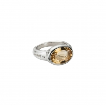 Silver Citrine Treasure Ring