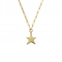 Gold Midi Star Trace Chain Necklace