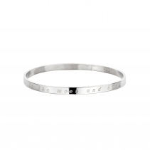 Silver Love You to the Moon & Back Full Signature Bangle