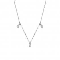 Silver Trio Diamond Necklace