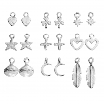 Silver Earring Charms