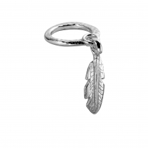 Silver Falling Feather Ring