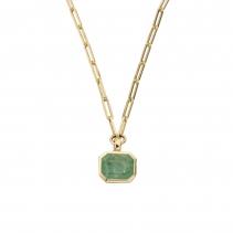 FILIS Emerald Trace Chain Gold Necklace