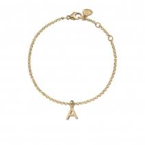 Gold Alphabet Chain Bracelet