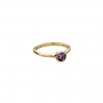 Gold Amethyst Baby Stone Ring
