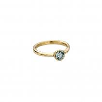 Gold Aquamarine Baby Stone Ring