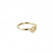 Gold Love Struck Baby North Star Ring