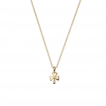 Gold Baby Shamrock Necklace